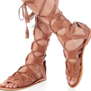 Free people tan gladiator sandals